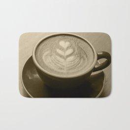 Cappuccino Heart Bath Mat