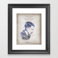 No Sense of Obligation Framed Art Print