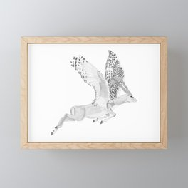 Combinations #7 - Antelope / Owl (FINAL) Framed Mini Art Print
