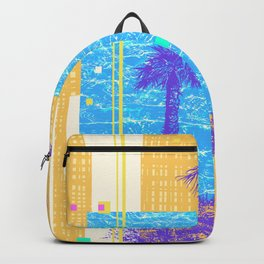 Abstract Background With Palm Tree Backpack