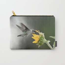 Hummingbird at Yellow Daisy Carry-All Pouch