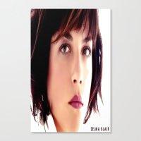 blair waldorf Canvas Prints featuring Selma Blair by seamaulastore
