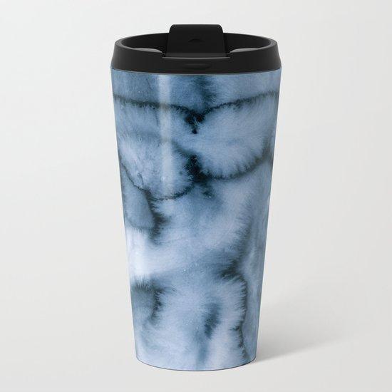 grey blues Metal Travel Mug