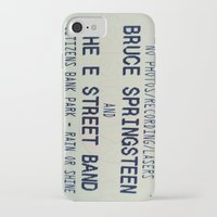 bruce springsteen iPhone & iPod Cases featuring Bruce Springsteen & the E Street Band: Rain or Shine by Christine Leanne