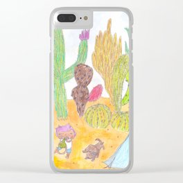 Wandering in the Desert Clear iPhone Case