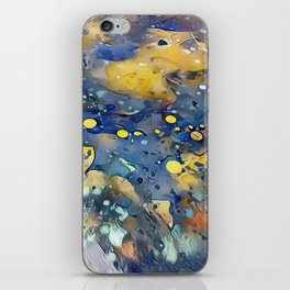When Planets Align watercolor abstract by CheyAnne Sexton iPhone Skin