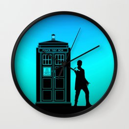 Tardis With The Twelfth Doctor Wall Clock