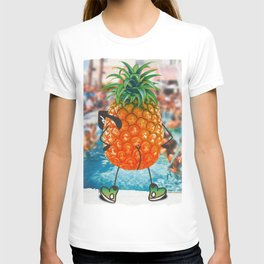 Behind the pool party T-shirt