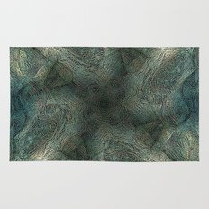 Graphic symmetric design background Rug