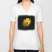 sunshine V-neck T-shirts featuring Sunshine by Trevor Jolley