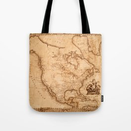 Map Of America 1800 Tote Bag