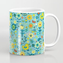 Ducks and frogs in the garden Coffee Mug