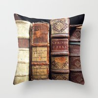 library Throw Pillows featuring Library by Mad Marys