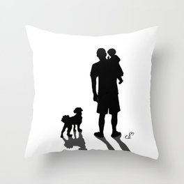 Father Son and Max Throw Pillow