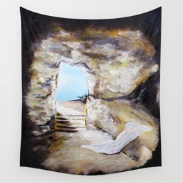 Empty Burial Tomb Wall Tapestry