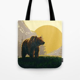 Early Morning Grizzly Bear Tote Bag