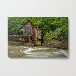 GLADE CREEK GRIST MILL SUMMER PHOTO - WEST VIRGINIA PICTURE - OLD MILL IMAGE - LANDSCAPE PHOTOGRAPHY Metal Print