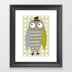Grey Whimsy Owl Framed Art Print