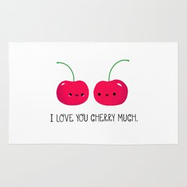 I Love You Cherry Much Rug