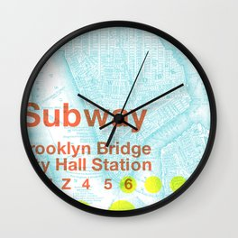 What the Future Awaits for New York II Wall Clock