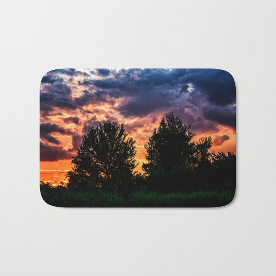 Dry Day Sunset Bath Mat