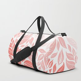 LIVING CORAL LEAVES 3 Duffle Bag