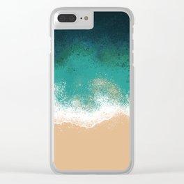 OverHead Beach Clear iPhone Case