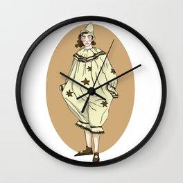 Lady Clown Wall Clock