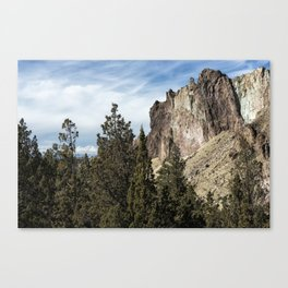 Rocky and Snowy Peaks Canvas Print