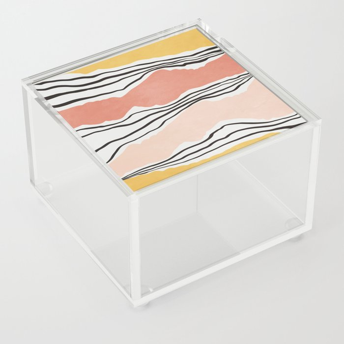 Modern irregular Stripes 01 Acrylic Box