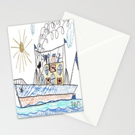 Mail Cargo Ship Stationery Cards