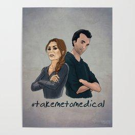 take me to medical // abby & jackson Poster