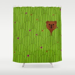 In The Prickly Bush Shower Curtain