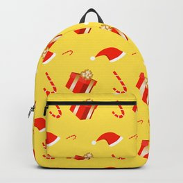 Red gift box and Santa's hat Backpack