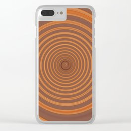 Chocolate Cookie Twirl Clear iPhone Case