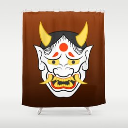Hannya Mask Shower Curtain