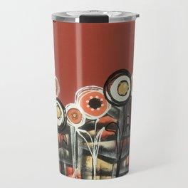 Autumnal Flowers Travel Mug