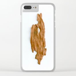 Native Australian Bark Clear iPhone Case