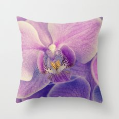 Orchid - lilac colored Throw Pillow