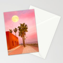 Super Moon At Sunset Stationery Cards