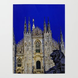 The Lion and Duomo Poster