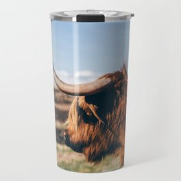 Highland Cow Looking in the Distance Travel Mug