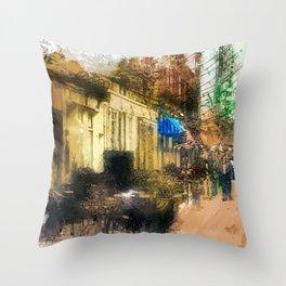A Stroll Down Main Street Throw Pillow