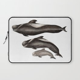 Short-finned pilot whale (Globicephala macrorhynchus) Laptop Sleeve