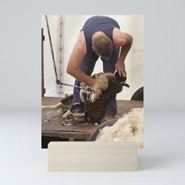 The shearer Mini Art Print
