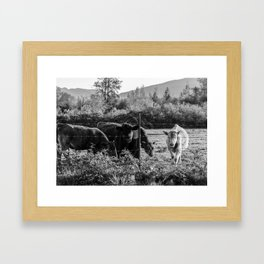 Down on the Farm Framed Art Print