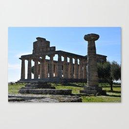 paestum i templi Canvas Print