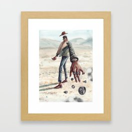 The Desert Man of Many Rings Framed Art Print