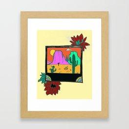 Desert Travels Framed Art Print