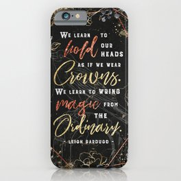 We learn to hold iPhone Case